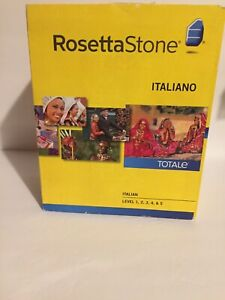 Rosetta Stone Italiano: Italian Levels 1,2,3,4,& 5 Version 4  no headphones