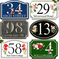Personalised House Street Number Sign Plaque Doors Wall Home Porch Name Address