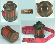 Antique Scottish Tartan Ware Tape Measure * Stuart * Circa 1870