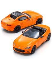 1:64 Kyosho Mazda Roadster RF MX-5 Miata 30th Anniversary Edition Orange 2 Cars