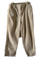 Talbots Pants Stretch Weekend Chino Tan Pants Size 8 Cotton  Cropped