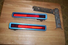 1970 71 PLYMOUTH CUDA BARRACUDA RED SIDE MARKER LIGHTS  ASSEMBLY REAR L/R