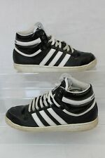 Adidas Top Ten Sneakers Black White Trainers Hi Tops Basketball Shoes Size UK 9