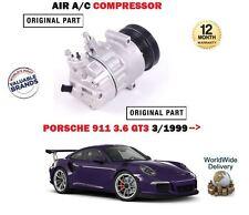 Per PORSCHE 911 3.6 gt3 996 1999 - > AC ARIA CONDIZIONATA condizione COMPRESSORE ORIGINALE
