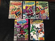 Amazing Spiderman 168,266,292,319,and annual 18 Marvel Comics McFarlane Stan Lee