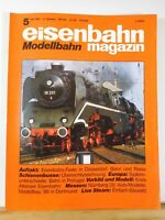 Eisenbahn Magazin Modellbahn 1989 Mai #5 Live Steam Einfach Bausatz