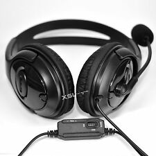 OverHead Headphones Headset + Mic for Live Chat for PS4 PlayStation 4, PCs, Tabs