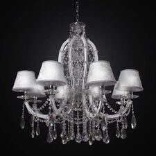 LAMPADARIO IN CRISTALLO CLASSICO BIANCO 8 LUCI BGA 2434-8 DESIGN SWAROVSKY
