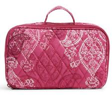 Vera Bradley Blush & Brush Makeup Case - Fabric Stamped Paisley - Pink -  $44