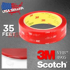 Genuine 3M VHB #4905 Double-Sided Mounting Foam Tape Automotive Car 25mm x 35FT