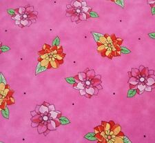 Summer Garden Kate Knight BTY Quilting Treasures Floral Bright Hot Pink