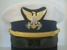 RARE VINTAGE US COAST GUARD Bancroft Zephyr White Dress Service Hat Size 7 3/4