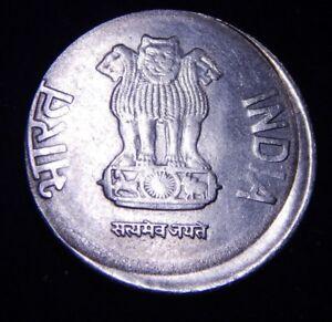 CH BU India 2014 2 Rupees Off Center Broadstruck/Multistrick Coin Nice Error!
