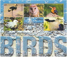 GAMBIA 2001 FOGLIETTO BF SHEETLET FAUNA UCCELLI E GUFI BIRDS OWL MNH**
