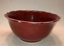 """Chinese Red Monchrome Porcelain 8"""" Bowl"""