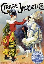 ART DECO-Lucien LEFEVRE-Cirage Jacquot-Cirque-A3 Art Poster Print