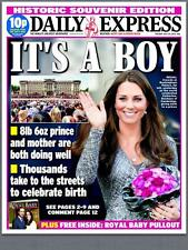 The Daily Express KATE MIDDLETON PRINCE WILLIAM Royal Baby Edition Newspaper