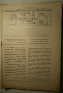 Archivio storico di Belluno Feltre e Cadore, numeri vari dal 1937 al 1943