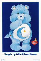 LOT OF 2 POSTERS :CHILDREN'S: CARE BEARS - SNUGGLE UP - FLOCKED - #3346F  RP56 A