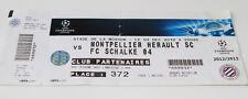 Ticket collectors CL Montpellier SC Schalke Gelsenkirchen 2012 France Germany
