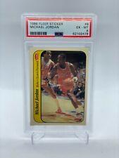 1986 Fleer Sticker Basketball #8 Michael Jordan Bulls RC Rookie HOF PSA 6 EX-MT