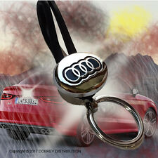 Key Chain Ring Holder Car Emblem Holder Car Keyring Keychain for Audi Auto