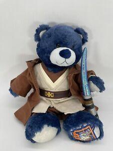 Build-A-Bear Star Wars 2010 Plush Blue RARE Obiwan Outfit W/ Anakin Light Saber