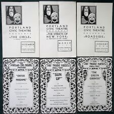 Portland Oregon - Lot of 12 Civic Theater Programs from 1930s