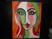 Sultry No3 by the artist Rodster 11X14-Original Acrylic Canvas - Fauvism