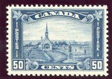 Canada 1930 KGV 50c blue MLH. SG 302. Sc 176.