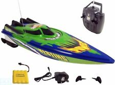 TWIN ENGINE RECHARGEABLE RC RADIO REMOTE CONTROL BOAT TWIN MOTOR - HIGH SPEED