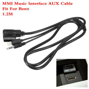 Music Interface Connector Charger Aux Cable For Mercedes Benz iPhone ipod 1.2M