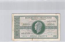 """Trésor 1000 Francs """"MARIANNE"""" Type 1945 Série E n° 53E473252 Pick 107"""