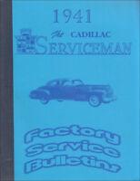 1941 Cadillac Service Bulletins Shop Manual Revisions