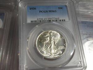 1936-P Walking Liberty Silver Half Dollar 50C PCGS MS 65 Walker