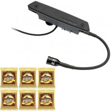 Fishman Rare Earth Blend Magnetic Soundhole Acoustic Pickup with 6 Sets Strings