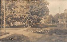 G98/ Burr Oak Michigan RPPC Postcard 1909 Eagle Street Homes