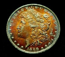 1886-o BU. KEY DATE. RARE $1 Morgan Silver Dollar naturally toned