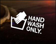 HAND WASH ONLY JDM Decal vinyl sticker, VW Japan Euro Drift Audi Funny