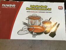 NuWave Induction Cookware 8pc set, Non stick new in box. never opened