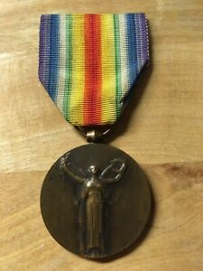 WW1 FRENCH VICTORY MEDAL , A MORLON GREAT WAR