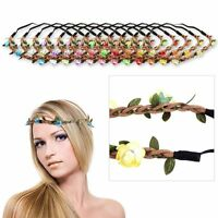 New Boho Floral Flower Women Girls Hairband Headband Festival Party Wedding