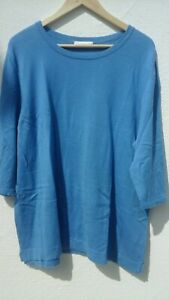 Pullover Pulli Gr 50 blau mit Seide
