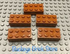 LEGO 5 DARK Orange Brick 2x4 7194 21144 10405