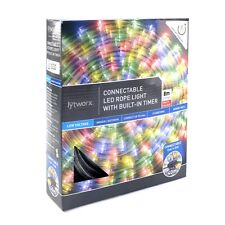 Lytworx CONNECTABLE LED ROPE LIGHT WITH BUILT-IN TIMER 8m Lit Length MULTICOLOUR