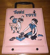 Pink Tune Tote 45 Rpm Record Vinyl Carry Case Retro