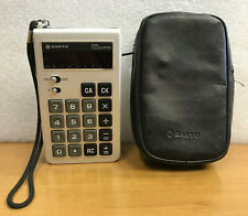 Vintage 1975 Sanyo CX-8007 Mini Calculator, 8 Digit, RED LED Display - Japan