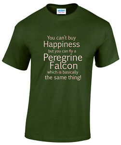 Peregrine Falcon Happiness Falconry Tee Shirt
