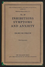 Sigmund Freud, Inhibitions Symptoms and Anxiety 1949 Hardcover in Dustjacket