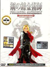 DVD Anime Fullmetal Alchemist Brotherhood Vol 1 - 64 End English Version